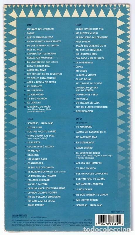 CDs de Música: LAS MEJORES RANCHERAS DE ROCÍO DÚRCAL AMOR ETERNO ( 3 CD + 1 DVD) - Foto 2 - 147673102