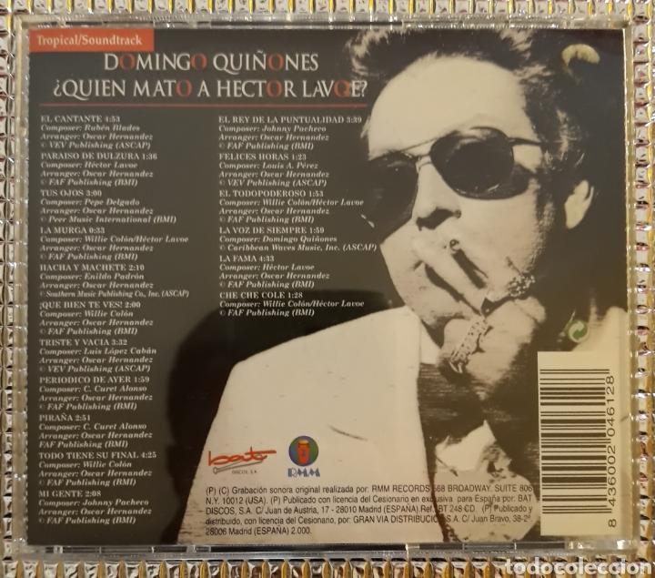 Musik-CDs: DOMINGO QUIÑONES - ¿QUIEN MATO A HECTOR LAVOE? - Foto 3 - 147701398