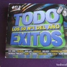 CDs de Música: TODO EXITOS - LOS 50 Nº1 DEL AÑO 1999 - 4 CDS - DISCO TECNO LATINO HOUSE -LIGERAS SEÑALES DE USO. Lote 147702234
