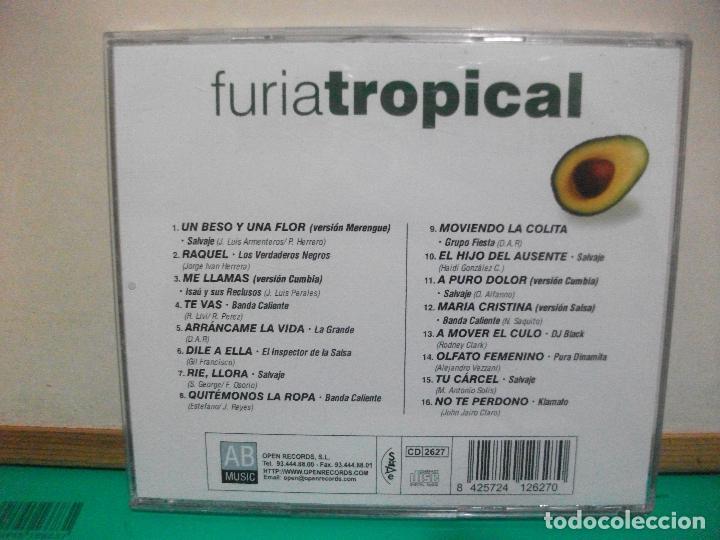 CDs de Música: FURIA TROPICAL MUSICA LATINA PARA REVENTAR REGGAETON , MERENGUE , CUMBIA , BACHATA CD ALBUM - Foto 2 - 147709622