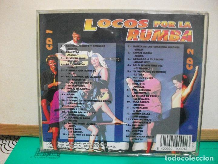 CDs de Música: flamenco, copla, sevillanas, rumbas - locos por la rumba - varios (doble cd) NUEVO¡¡ PEPETO - Foto 2 - 147710578