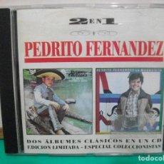 CDs de Música: 2 EN 1. PEDRITO FERNANDEZ. EDICIÓN LIMITADA. CD ALBUM . Lote 147710886
