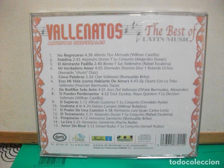 CDs de Música: DOBLE CD THE BEST OF LATIN MUSIC VALLENATOS ARTISTAS ORIGINALES - Foto 2 - 147713354