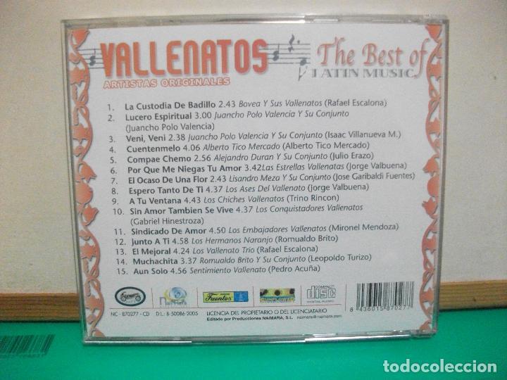 CDs de Música: DOBLE CD THE BEST OF LATIN MUSIC VALLENATOS ARTISTAS ORIGINALES - Foto 3 - 147713354