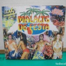 CDs de Música: MALALTS DE FESTA SOLO VERSIONES ORIGINALES PACK 3 CD COMO NUEVO SOMBRA RECORDS. Lote 147713834