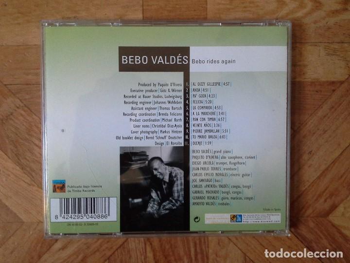 CDs de Música: BEBO VALDÉS - BEBO RIDES AGAIN - CD AÑO ?? - Foto 2 - 147729462