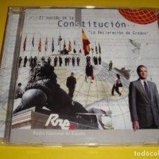 CDs de Música: EL SONIDO DE LA CONSTITUCIÓN / LA DECLARACIÓN DE GREDOS / RNE / CONSTITUCIÓN ESPAÑOLA / CD. Lote 147730114