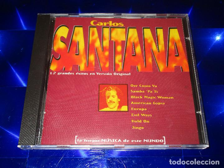 CDs de Música: CARLOS SANTANA ( 12 GRANDES EXITOS EN VERSION ORIGINAL ) - CD - EUROPA - PERSUASION ... - Foto 2 - 147760210