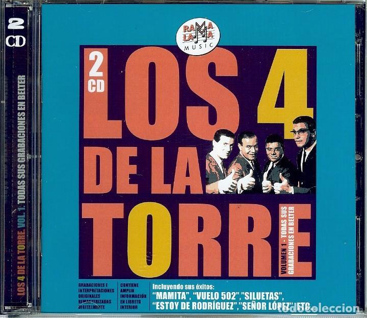DOBLE CD LOS 4 DE LA TORRE - MAMITA - ESTOY DE RODRIGUEZ - SILUETAS - VUELO 502 - SEÑOR LOPEZ - (Música - CD's Melódica )