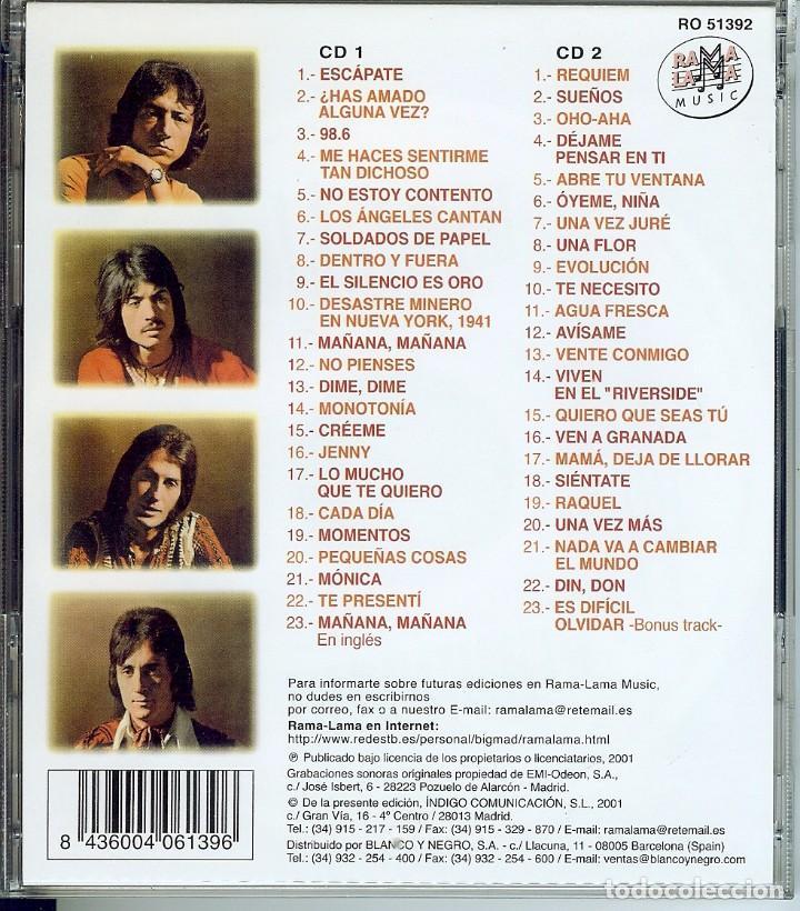 CDs de Música: DOBLE CD LOS ANGELES - MAÑANA, MAÑANA - 98.6 - MONICA - TE QUIERO MUCHO - MOMENTOS - ABRE TU VENTANA - Foto 2 - 147763206