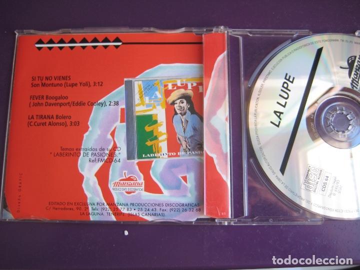 CDs de Música: LA LUPE CD MAXI SINGLE MANZANA 1993 - SI TU NO VIENES - FEVER - LA TIRANA - BOOGALOO - BOLERO - Foto 2 - 147784934