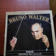 CDs de Música: ALBUM ESTUCHE CON 9 LPS DE BRUNO WALTER Y OBRAS DE MAHLER.. Lote 147786698