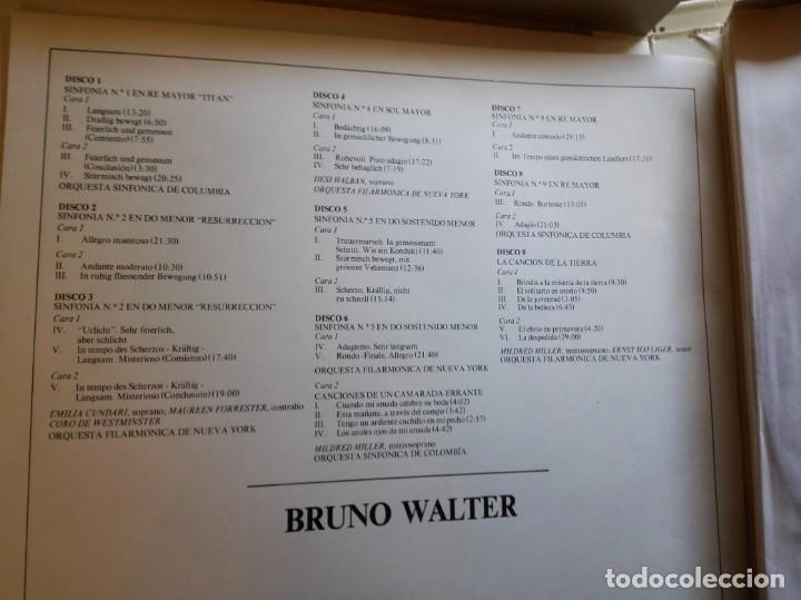 CDs de Música: Album estuche con 9 LPs de BRUNO WALTER y obras de MAHLER. - Foto 3 - 147786698