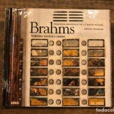 CDs de Música: SINFONIAS TERCERA Y CUARTA - BRAHMS - LIBRETO CON CD - 4 FOTOS. Lote 147890570