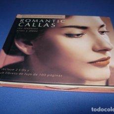 CDs de Música: ROMANTIC CALLAS - SUS MEJORES ARIAS Y DUOS - 2 CD + LIBRO CON FOTOGRAFIAS - LETRAS Y DISCOGRAFIA. Lote 147902358