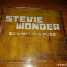 CDs de Música: STEVIE WONDER SO WHAT THE FUSS CD SINGLE PROMO EU 2005 PRINCE TOCA LA GUITARRA 1 TEMA. Lote 56289247