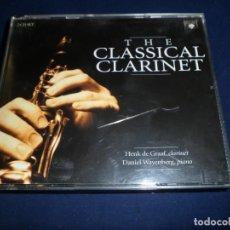 CDs de Música: THE CLASSICAL CLARINET. HENK DE GRAAF, CLARINETE. BRILLIANT ESTUCHE 2 CD´S. Lote 147981898