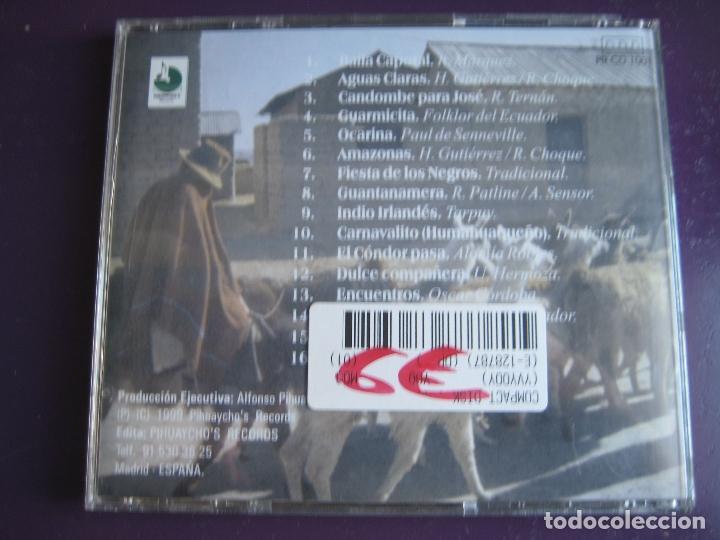 CDs de Música: TAKANAS CD PIHUAYCHO'S 1999 - SECRET SPIRIT OF THE ANDES - FOLK CHILE PERU BOLIVIA - PAN PIPE - - Foto 2 - 148000198