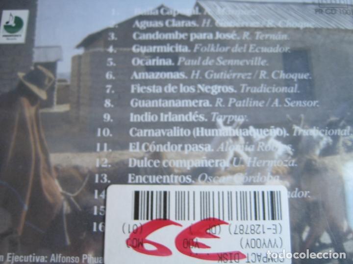 CDs de Música: TAKANAS CD PIHUAYCHO'S 1999 - SECRET SPIRIT OF THE ANDES - FOLK CHILE PERU BOLIVIA - PAN PIPE - - Foto 3 - 148000198