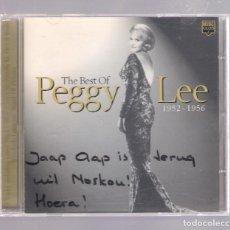 CDs de Música: PEGGY LEE - THE BEST OF PEGGY LEE 1952 - 1956 (CD 2000, MUSIC CLUB MCCD 426). Lote 148072538