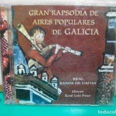 CDs de Música: GRAN RAPSODIA DE AIRES POPULARES DE GALICIA - REAL BANDA DE GAITAS. CD ALBUM . Lote 148167870