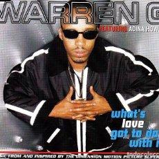 CDs de Música: WARREN G FEAT. ADINA HOWARD - WHAT'S LOVE GOT TO DO WITH IT CD SINGLE 3 TEMAS 1996. Lote 148187310