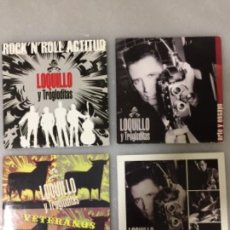 CDs de Música: LOQUILLO Y LOS TROGLODITAS. EL HIJO DE NADIE. VETERANOS . ARTE Y ENSAYO. ROCK'N'(4 CD SINGLES 2004 ). Lote 148080910