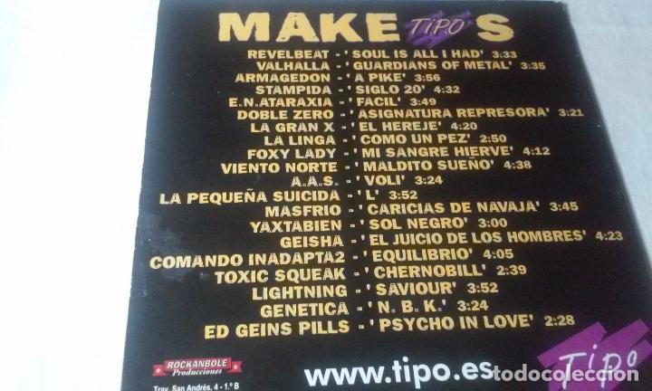 CDs de Música: MAKETIPOS (MAQUETA DE DIVERSOS GRUPOS PATROCINADO POR TIPO) CD AÑO 2001 - Foto 6 - 148236878