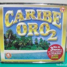 CDs de Música: CARIBE ORO 2 + DE 3 HORAS DE VERSIONES ORIGINALES 4X CD S ALBUM PEPETO. Lote 148281502