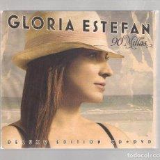 CDs de Música: GLORIA ESTEFAN - 90 MILLAS (CD+DVD DIGIPAK + LIBRILLO CANCIONES 2007, BURGUNDY RECORDS 88697090552). Lote 148316026