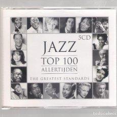 CDs de Música: VARIOS - JAZZ TOP 100 ALLERTIJDEN (THE GREATEST STANDARDS) (5CD 2005, UNIVERSAL 982 931-1). Lote 148317714
