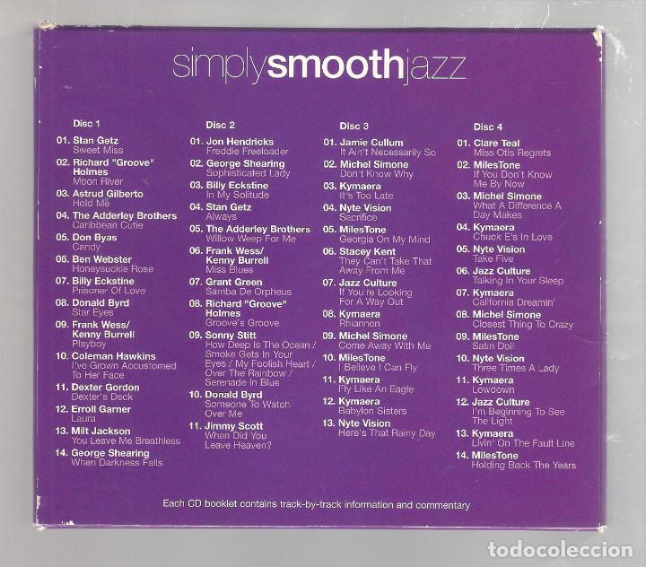 CDs de Música: VARIOS - Simply Smooth Jazz (caja 4 CD 2004, SIMPLYCD006) - Foto 2 - 148319530
