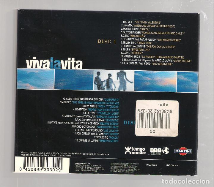 CDs de Música: VARIOS - Viva La Vita By Martini (2CD digipak 2001, Tempo Music TM0302CD ) - Foto 2 - 148321766