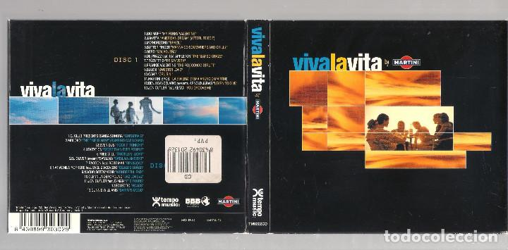 CDs de Música: VARIOS - Viva La Vita By Martini (2CD digipak 2001, Tempo Music TM0302CD ) - Foto 6 - 148321766