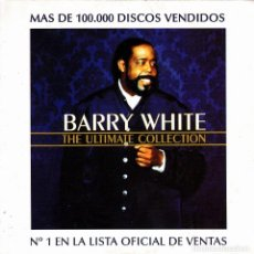 CDs de Música: BARRY WHITE - ULTIMATE COLLECTION SAMPLER CD SINGLE 4 TEMAS 2000. Lote 148325766