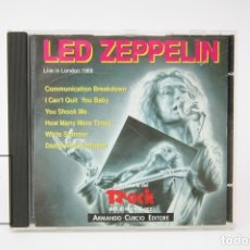 CDs de Música: CD DE MÚSICA - LED ZEPPELIN / LIVE IN LONDON 1969 - ARMNADO CURCIO EDITORE - AÑO 1991. Lote 148407229