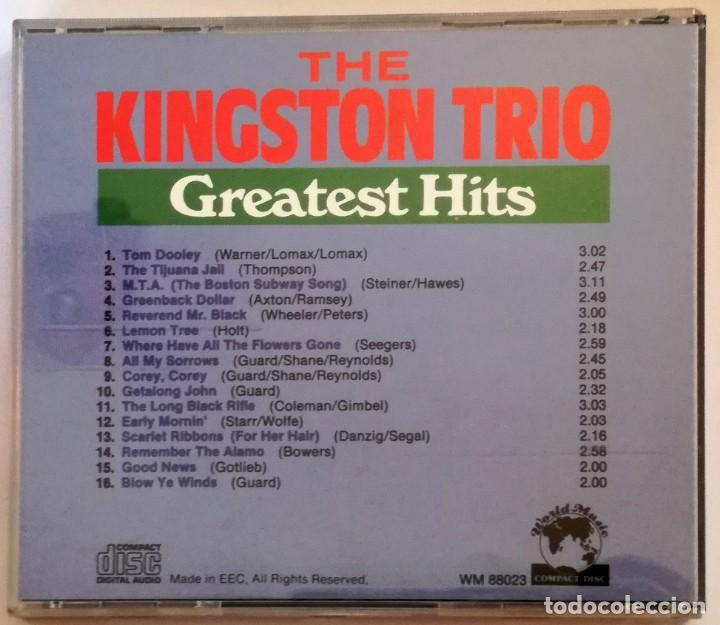CDs de Música: THE KINGSTON TRIO: GREATEST HITS - Foto 2 - 148490514