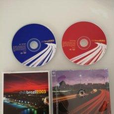 CDs de Música: CHILL BRAZIL 2003 DOBLE CD NUEVO TOM JOBIM JOAO GILBERTO JOYCE GILBERTO GIL. Lote 148530894