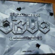 CDs de Música: OBUS VAMOS MUY BIEN 30 GRANDES IMPACTOS 2XCDS+DVD CAJA LIBRETO. Lote 151432445