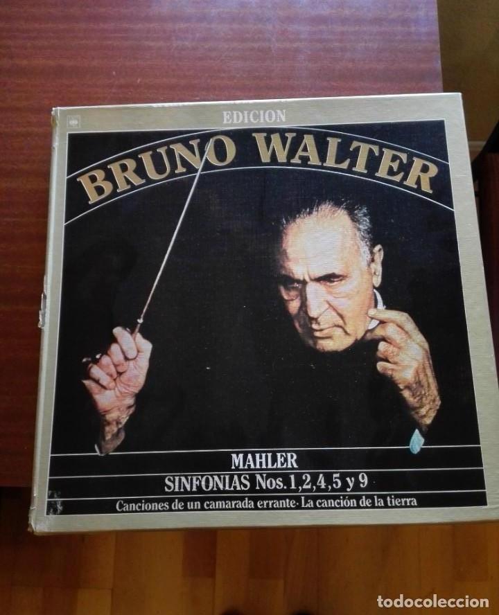 ALBUM ESTUCHE CON 9 LPS DE BRUNO WALTER Y OBRAS DE MAHLER. (Música - CD's Clásica, Ópera, Zarzuela y Marchas)