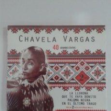 CDs de Música: 40 GRANDES ÉXITOS. CHAVELA VARGAS. PRECINTADO. Lote 148616442