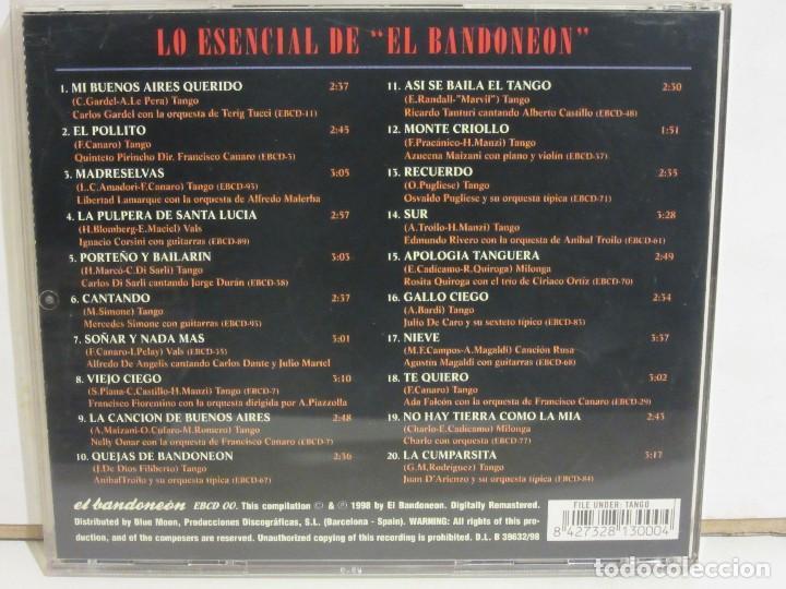 CDs de Música: Lo Esencial De El Bandoneon - Tangos - Gardel, Magaldi..... - CD - 1998 - NM+/EX+ - Foto 2 - 148673158