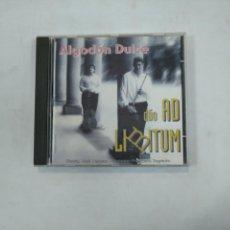 CDs de Música: ALGODON DULCE. DUO AD LIMITUM. JOSE LANUZA. FRANCISCO SAGREDO. CD. TDKV25. Lote 148737514
