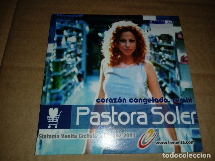 PASTORA SOLER CORAZON CONGELADO REMIX CD SINGLE PROMOCIONAL CARTON SINTONIA VUELTA CICLISTA 2001 (Música - CD's Pop)