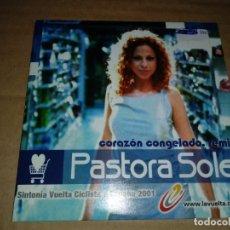CDs de Música: PASTORA SOLER CORAZON CONGELADO REMIX CD SINGLE PROMOCIONAL CARTON SINTONIA VUELTA CICLISTA 2001. Lote 148751596