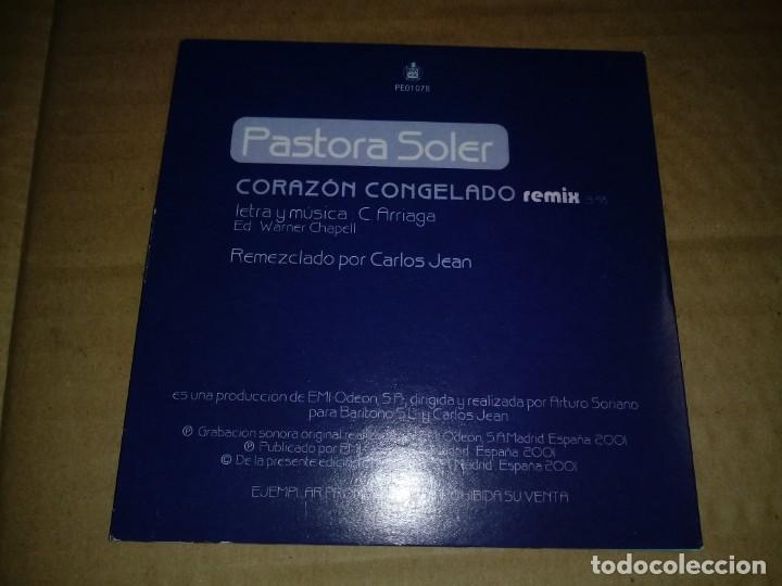 CDs de Música: PASTORA SOLER Corazon congelado REMIX CD SINGLE PROMOCIONAL CARTON SINTONIA VUELTA CICLISTA 2001 - Foto 2 - 148751596