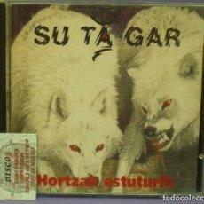 CDs de Música: SU TA GAR - HORTZAK ESTUTURIK - CD CON DEDICATORIA Y FIRMA DEL GRUPO EN LA CONTRAPORTADA.. Lote 148830646