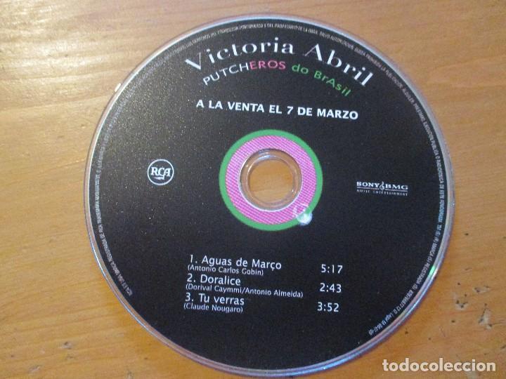 VICTORIA ABRIL PUTCHEROS DO BRASIL CD EP 3 CANCIONES AGUAS DE MARÇO RCA SONY 2005 (Música - CD's World Music)