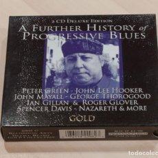 CDs de Música: A FURTHER HISTORY OF PROGRESSIVE BLUES. 2 CD DELUXE EDITION. DEJAVU RETRO GOLD COLLECTION.. Lote 148902474