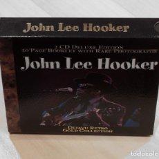 CDs de Música: JOHN LEE HOOKER. 2 CD DELUXE EDITION. DEJAVU RETRO GOLD COLLECTION.. Lote 148903030